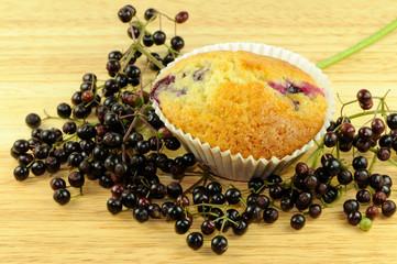 Muffin mit Holunder