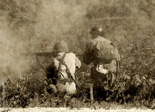 Leinwanddruck Bild World War II soldiers