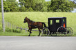 Amish (mennonite) people riding their buggy - 34639974