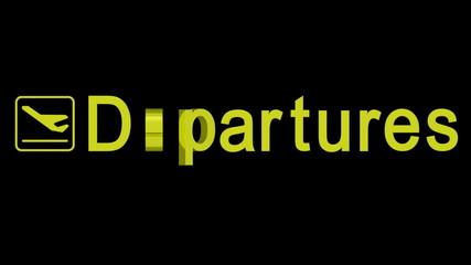 Departures word