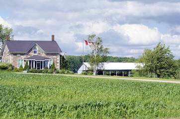 Canadian country house and farm