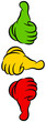 Thumb Up, Middle & Down Green/Yellow/Red