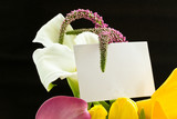 beautiful bouquet of tulips and calla lilies