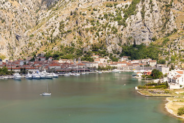 Aerial view on Kotor - Montenegro