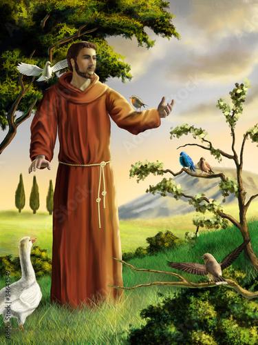 Leinwanddruck Bild Saint Francis