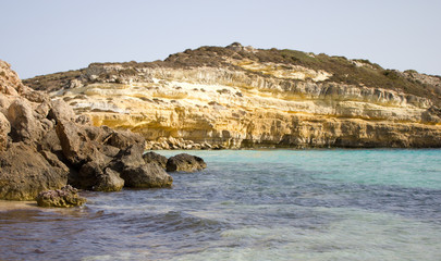 "On the water of ""Island of Rabbits Beach""-Lampedusa, Italy"