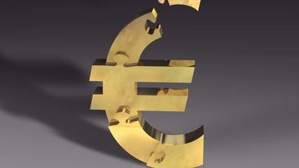Gold Euro Puzzle Animation