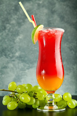 red and orange drink