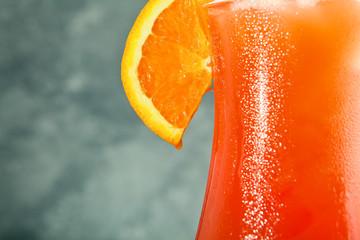 Orange cocktail closeup