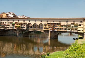 Bridge on Arno River in Florence, Italy