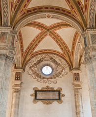 Inside the cathedral in Montepulciano, Tuscany, Italy