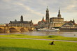 Dresden the Hofkirche with Elbe
