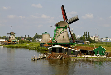 Zaanse Schans Historic Windmills