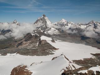 Glaciers, Cervin et sommets