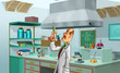 medic in the lab
