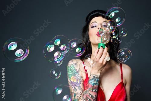 Leinwanddruck Bild bubbles
