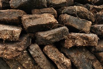 close up of peat digging on Harris, Scotland