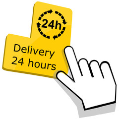 Delivery 24 hours icon