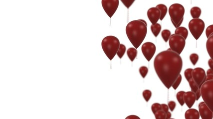 Red balloons party background HD 1080