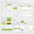Web design navigation menu pack (green)