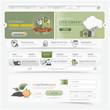 Web site navigation menu pack with icons set