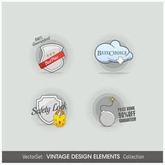 Design Elements: vintage icons set