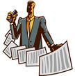 Close-up of man holding paper