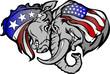 Political Elephant and Donkey Cartoon