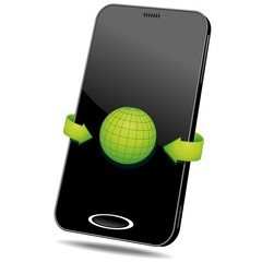 Smartphone Touchscreen Internet Web-Vector
