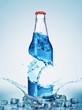 bottles in water swirl