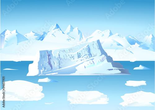 Eisberg mit Gletscher - 34657931