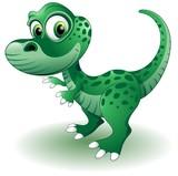 Fototapety Dinosauro Cucciolo-Baby Dinosaur-Vector