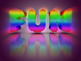 Word Fun 3D Multi Colored Letters