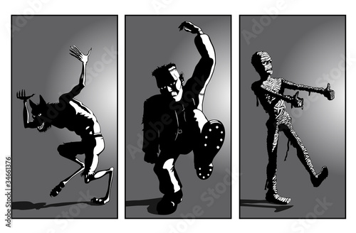 Werewolf, Frankensteins Monster and Mummy Dance : Fotolia