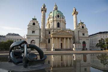 Vienna - Charles Boromeo baroque church