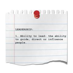 Recorte de papel texto LEADERSHIP