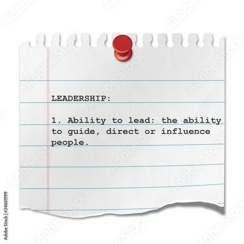 Recorte de papel texto LEADERSHIP