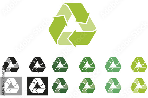 Recycling logo - colour variations