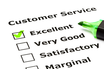 Customer service evaluation form