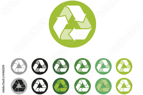 Recycling Logo colour variations