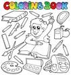 Coloring book school topic 1