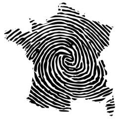 Frankreich Fingerabdruck
