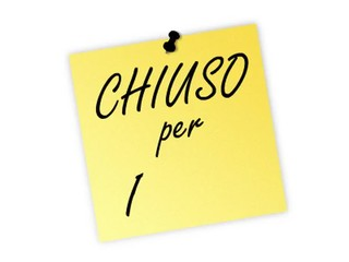 post it chiuso per ferie