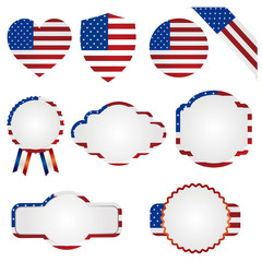 american national flag set