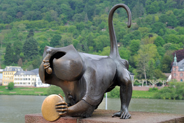 Heidelberg Bridge Monkey