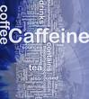 Caffeine background concept