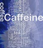 Caffeine background concept poster