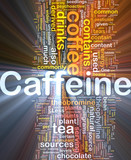 Caffeine background concept glowing poster