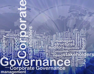 Corporate governance background concept