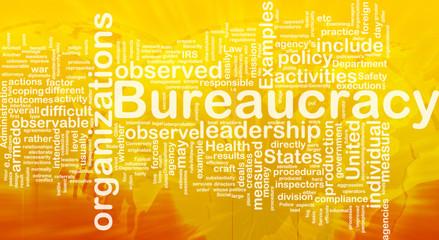 Bureaucracy background concept